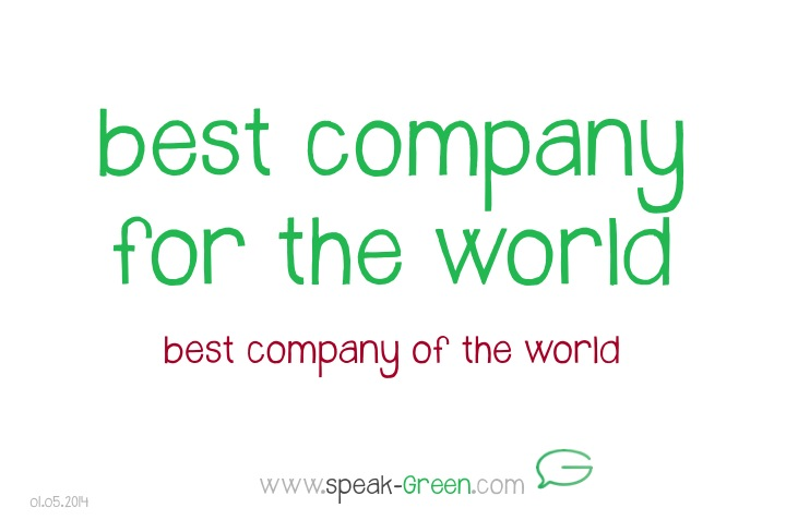 2014-05-01 - best company for the world