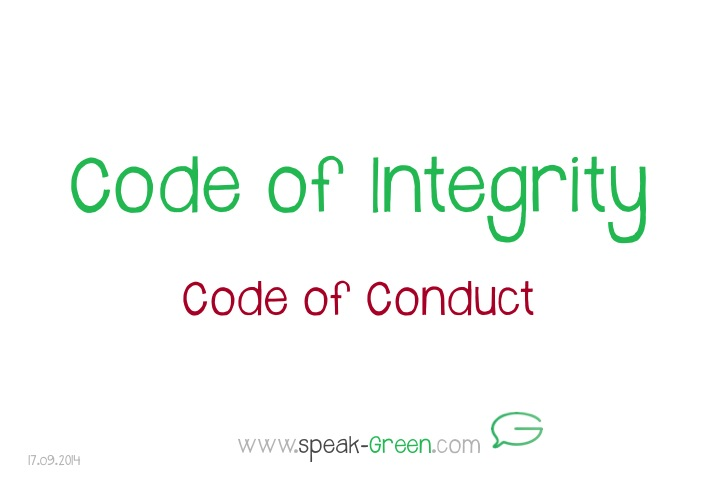 2014-09-17 - Code of Integrity