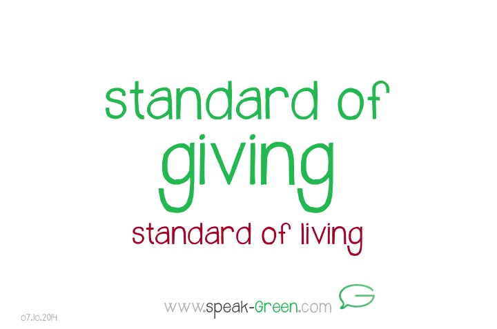 2014-10-07 - standard of giving