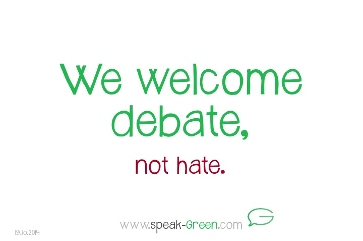2014-10-19 - we welcome debate