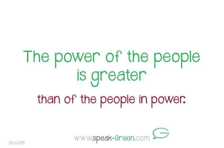 2015-01-25 - power of the people