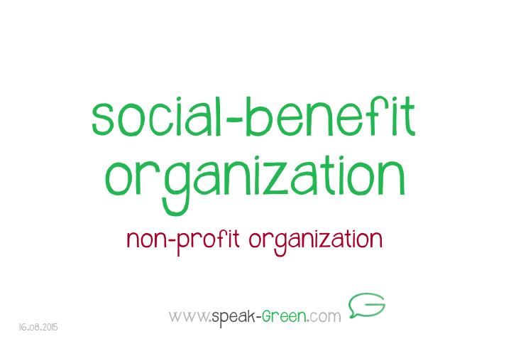 2015-08-16 - social-benefit organization