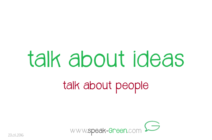 2016-01-23 - talk about ideas