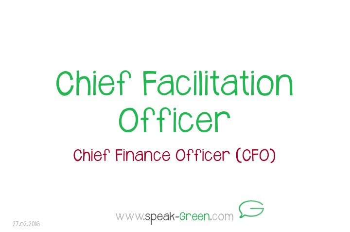 2016-02-27 - Chief Facilitation Officer