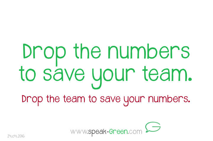 2016-04-24 - drop the numbers to save your team