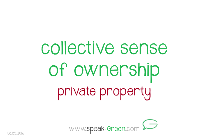 2016-05-30 - collective sense of ownership