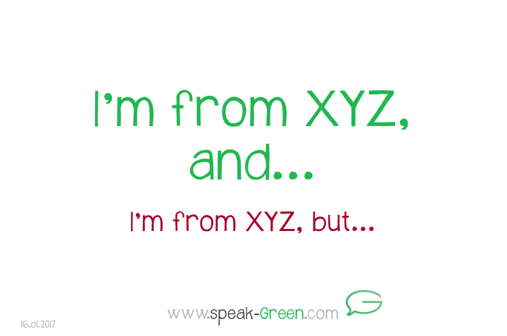 2017-01-16 - I'm from XYZ, and