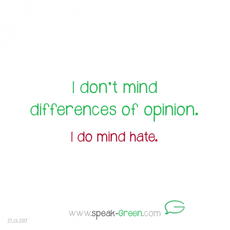 2017-01-27 - I don't mind differences of opinion