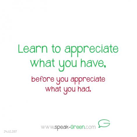 2017-02-24 - appreciate what you have