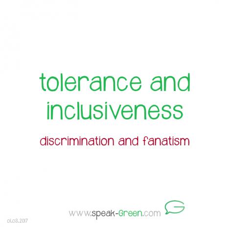 2017-03-01 - tolerance and inclusiveness