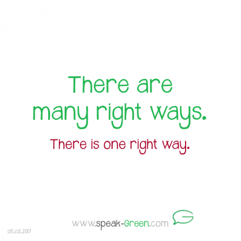 2017-03-05 - there are many right ways