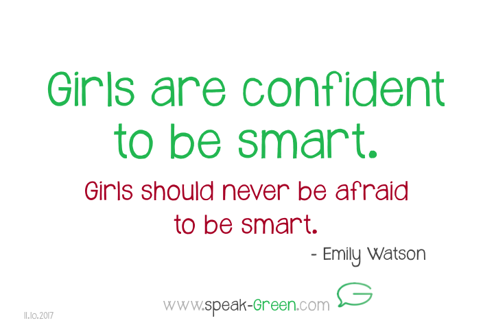 2017-10-11 - girls are confident to be smart