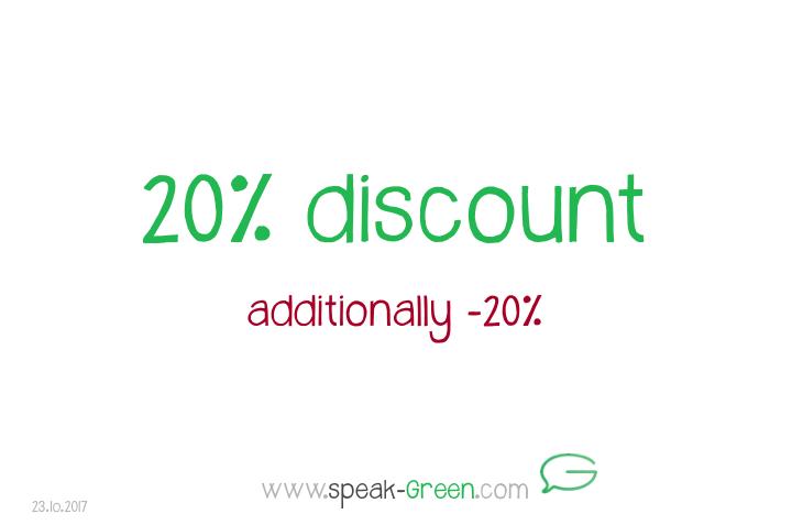 2017-10-23 - 20 percent discount