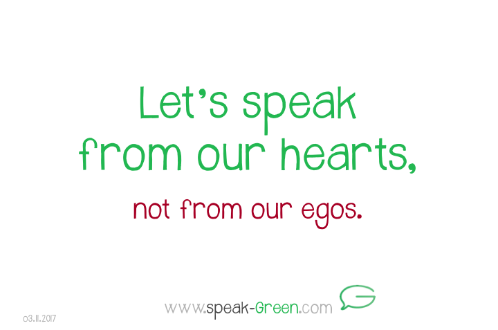 2017-11-03 - let's speak from our hearts