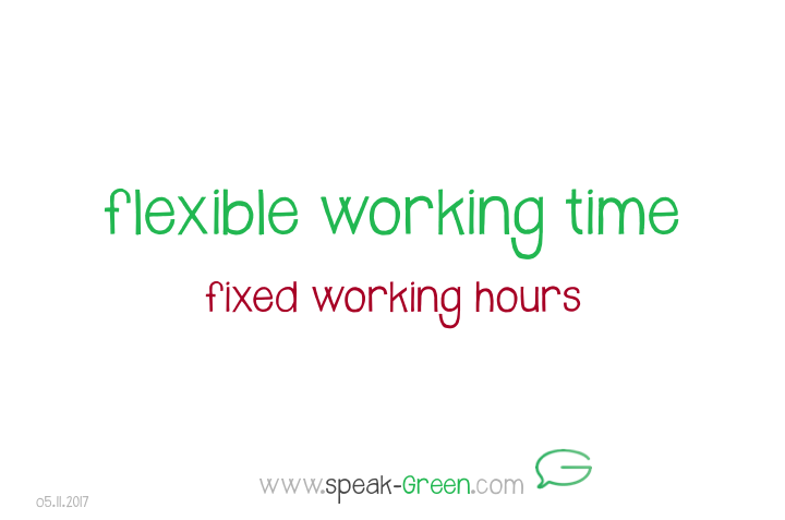 2017-11-05 - flexible working time