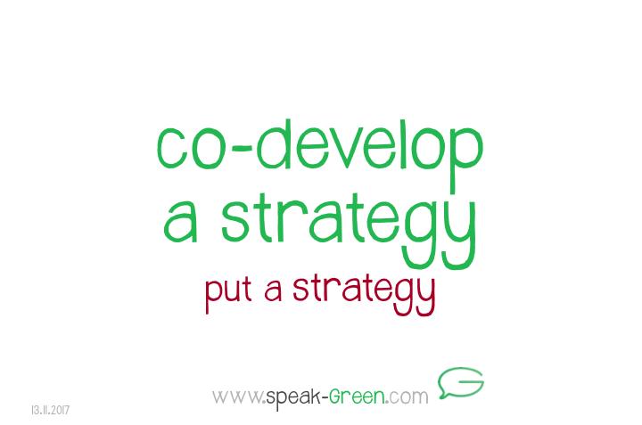 2017-11-13 - co-develop a strategy