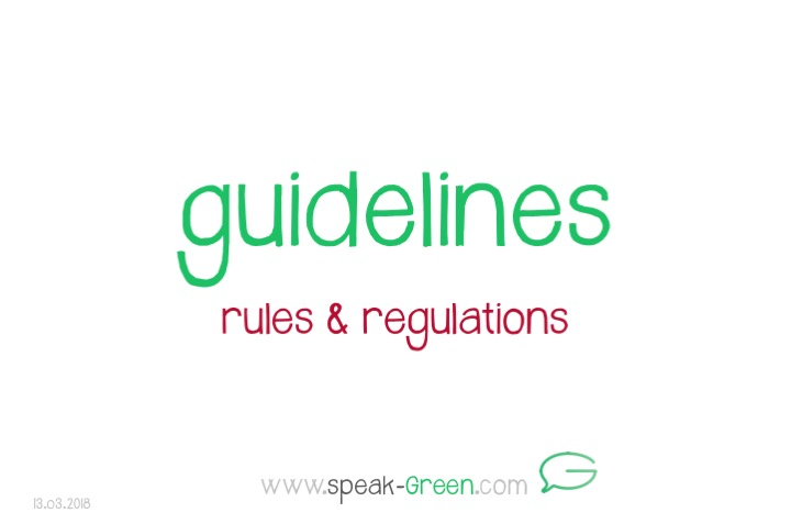 2018-03-13 - guidelines
