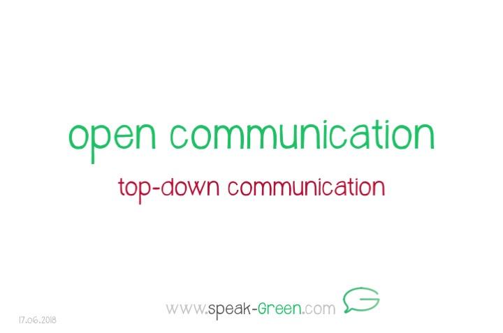 2018-06-17 - open communication