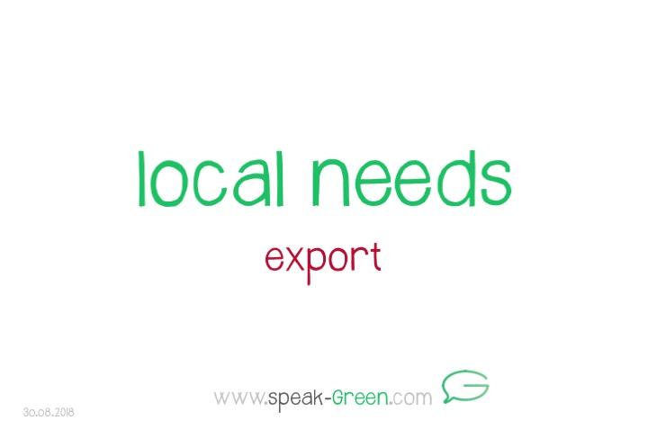 2018-08-30 - local needs