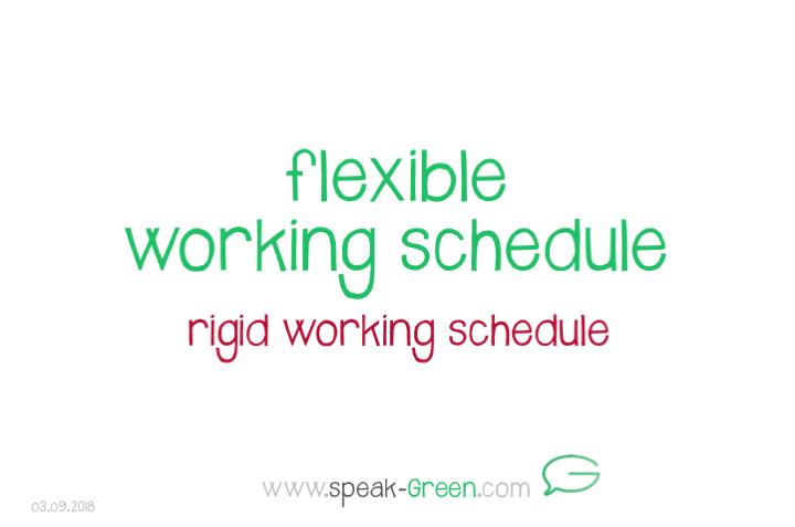 2018-09-03 - flexible working schedule