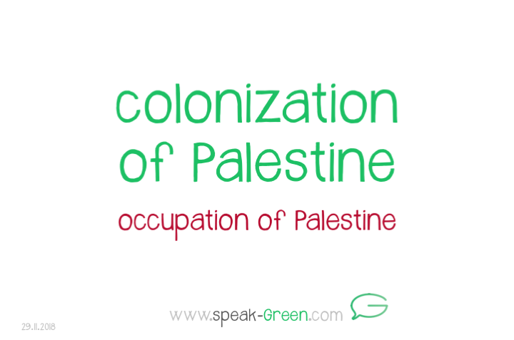 2018-11-29 - colonization of Palestine
