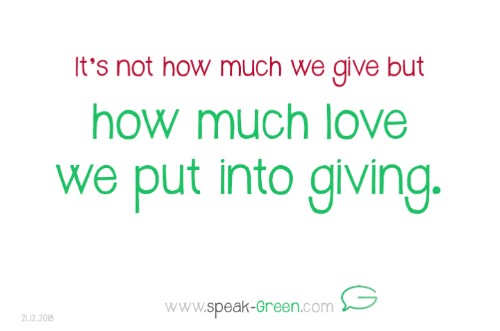 2018-12-21 - put love into giving