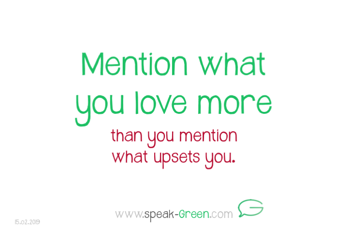 2019-02-15 - mention what you love more