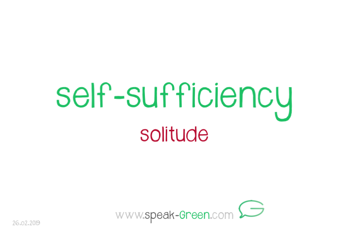 2019-02-26 - self-suffiency