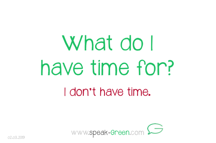 2019-03-02 - what do I have time for